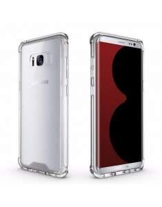 Capa Protetora Transparente Com Borda Antishock Para Samsung Galaxy S8