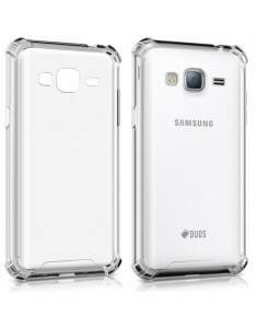 Capa Protetora Transparente Com Borda Antishock Para Samsung Galaxy J7 Pro