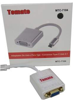 Adaptador Conversor MTC 7104  USB Tipo C Para Vga ..