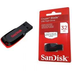 Pen Drive Cruzer Blade Flash USB 32GB - SANDISK